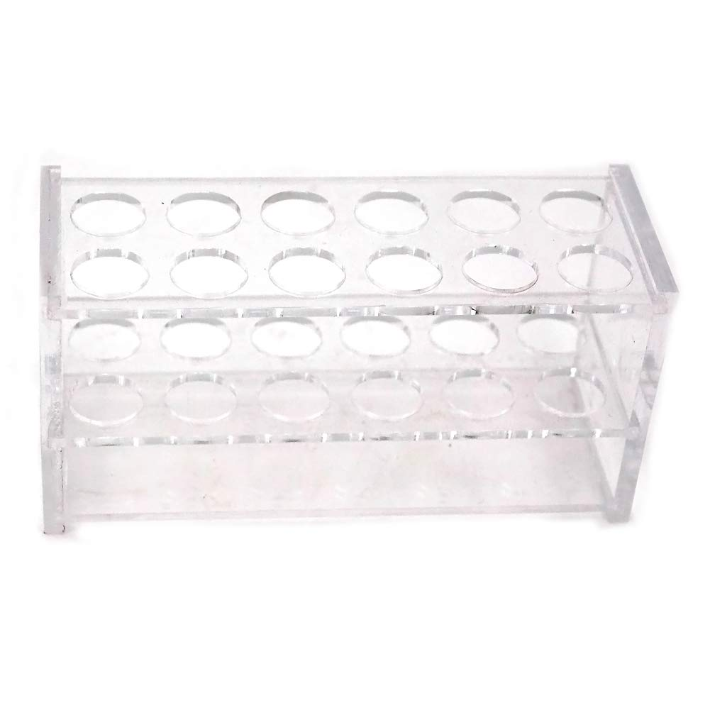 Chiloskit 12 Sockets Clear Acrylic Test Tube Rack for 10ML Test Tubes