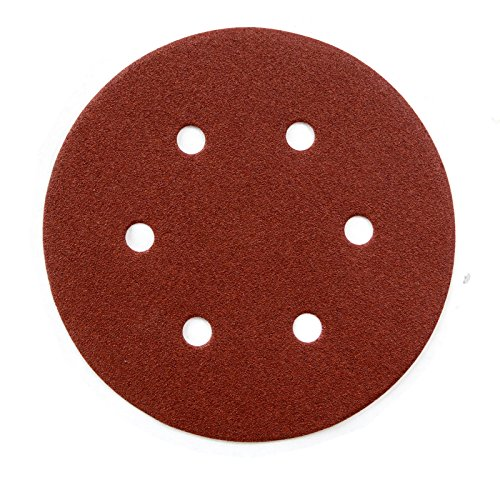 ook and Loop 6 Hole Disc, 6-Inch, 40 Grit, 25 PK ()