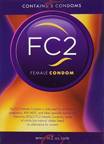 FC2 Female Condom ~Latex-free protection, 3 Count by Female Health Company
