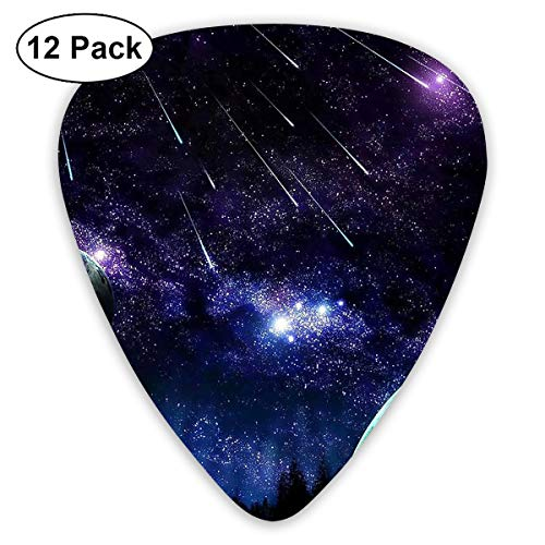 V5DGFJH.B Blue Night Sky Meteor Classic Guitar Pick Player's Pack for Electric Guitar,Acoustic Guitar,Mandolin,Guitar -