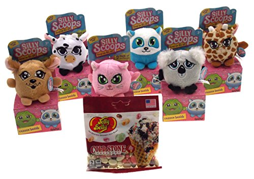 Ganz Silly Scoops Series 1 Set of 6 Bundled with Jelly Belly