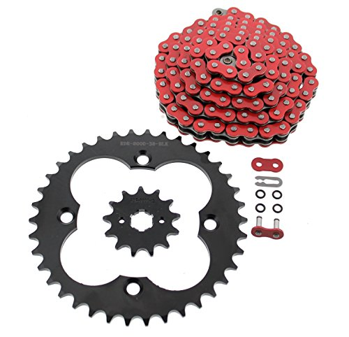Red O-ring - 1993-2008 Fits Honda Sportrax 300EX TRX300EX Red O-Ring Chain & Black Sprocket 13/38