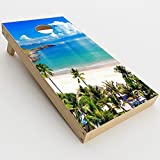 Skin Decal Vinyl Wrap for Cornhole Game Board Bag Toss (2xpcs.) Skins Stickers Cover / Tropical Paradise Palm Trees