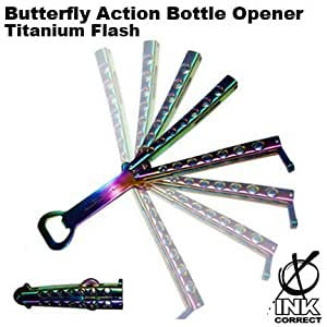 Butterfly Action Bottle Opener: Titanium Flash
