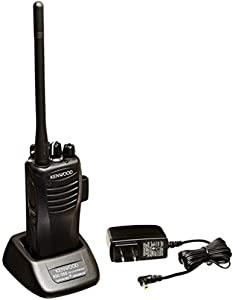 Kenwood TK-2400V4P ProTalk Compact VHF 4 Channel Portable Two-Radio, Black, 2 Watts Transmit Power/Range up to 6 Miles, Wireless Cloning, Calling Alert, Internal Vox/Hands Free Ready