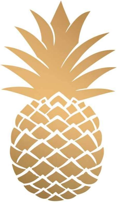 Paperproducts Design Beverage Napkin, Golden Pineapple