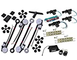 American Terminal 4 Window Roll Up Conversion Power Electric Universal Kit w/ 4 Switches + Kit Keyless Entry Auto Car Truck