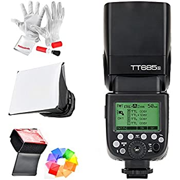 Godox TT685S HSS 1/8000S GN60 TTL Flash Speedlite 0.1-2.s Recycle Time 230 Full Power Flashes 22 Steps of Power Output Supports TTL/M/Multi/S1/S2 Modes 20-200mm Auto/Manual Zooming for Sony DSLR