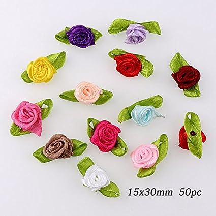 Buy pinkdose 15x30mm 100pc50 mini mix color decorative flower pinkdose 15x30mm 100pc50 mini mix color decorative flower artificial silk flowers party wedding junglespirit Images
