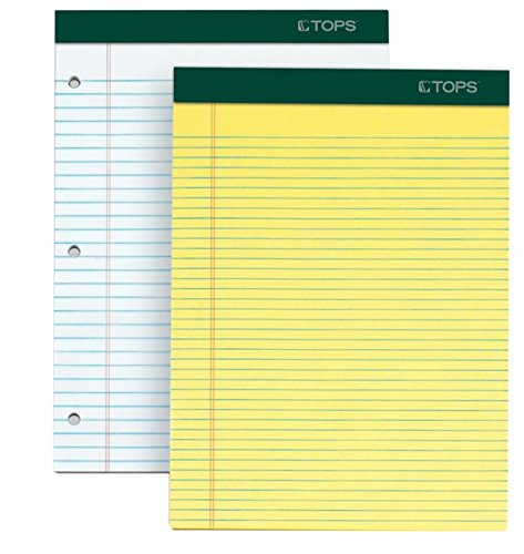 Perforated Pads - TOPS Docket Writing Pads, 8-1/2