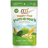 NurturMe Yum-A-Roo's Organic Toddler Snacks, Banana + Apple + Broccoli, 1 Ounce (Pack of 6)