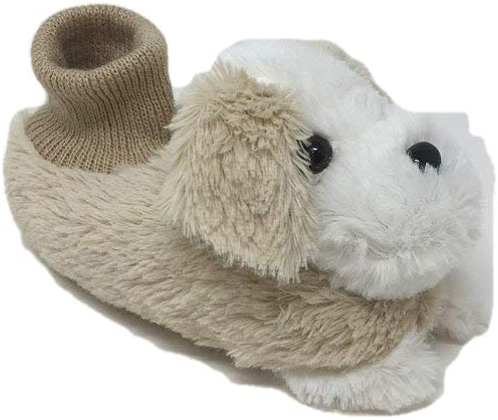 Uni02 Boys//Girls Cute Soft Plush Puppy Dog Socks Slippers Sandals Toddlers