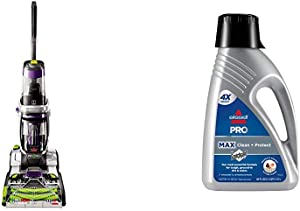 Bissell ProHeat 2X Revolution Pet Pro Full-Size Carpet Cleaner, 1986 &78H63 Deep Clean Pro 2X Deep Cleaning Concentrated Carpet Shampoo, 48 ounces - Silver
