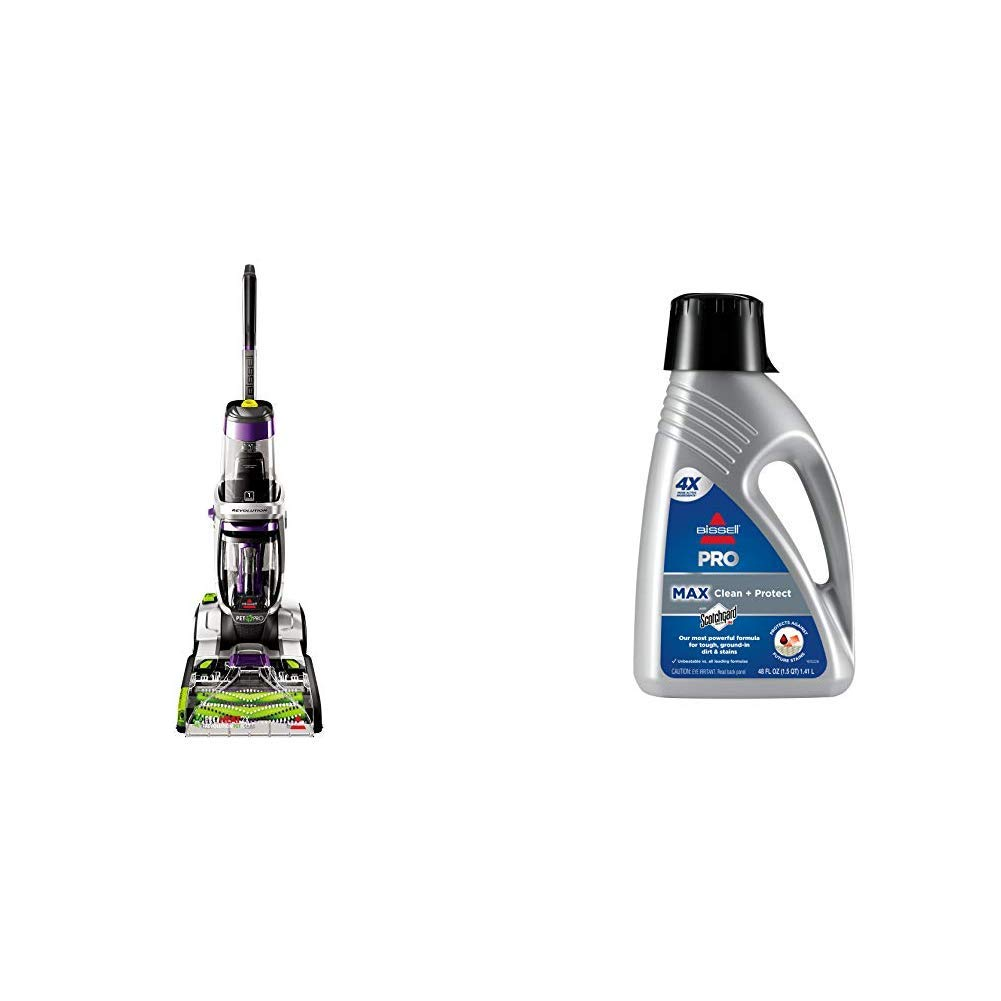 Bissell ProHeat 2X Revolution Pet Pro Full-Size Carpet Cleaner, 1986 &  78H63 Deep Clean Pro 2X Deep Cleaning Concentrated Carpet Shampoo, 48 ounces - Silver