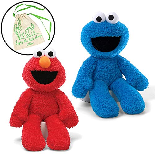 GUND Sesame Street Take Along Elmo and Cookie Monster Stuffed Animal 12