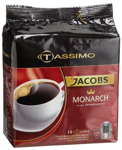 Jacobs Monarch, T-Discs for Tassimo Coffeemakers, 16-Count Packages (Pack of (Tassimo Espresso Maker)