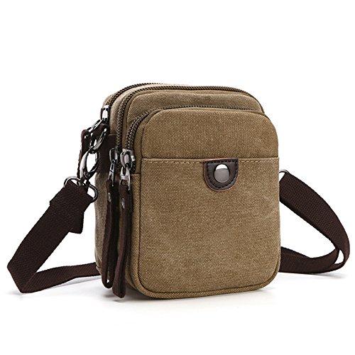 ENKNIGHT Nylon Crossbody Purse Bag for Women Travel Shoulder handbags (Khaki-s)