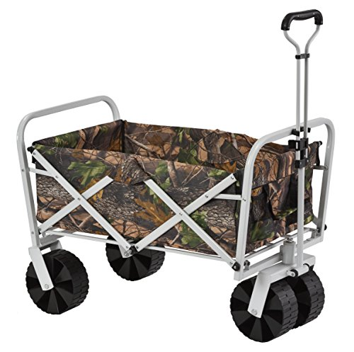Muscle Carts FBW3621-CAMO Collapsible Folding Utility Wagon, Camo