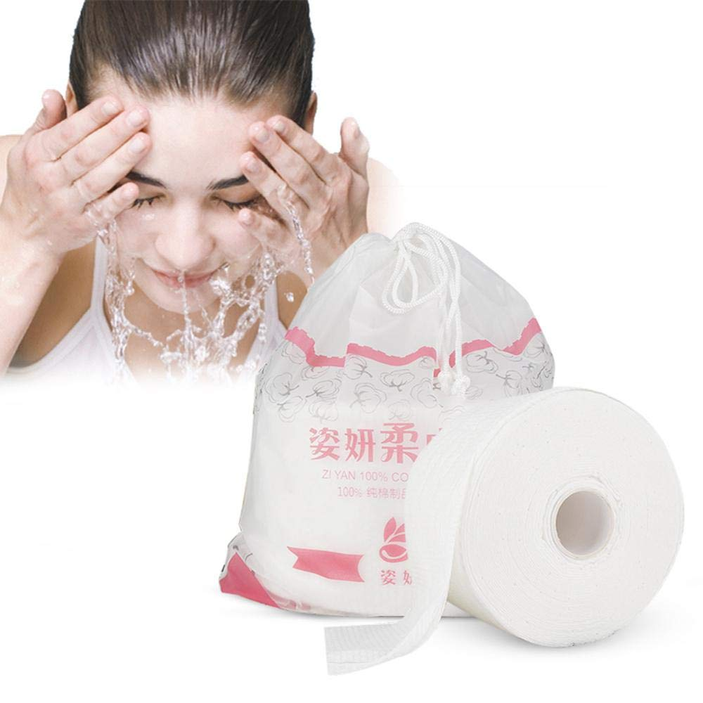 WooyMo Cotton Facial Tissue Non-woven Fabric Disposable Wipers Washcloths Disposable Face Towel 120 PCS Makeup Facial Soft Pads