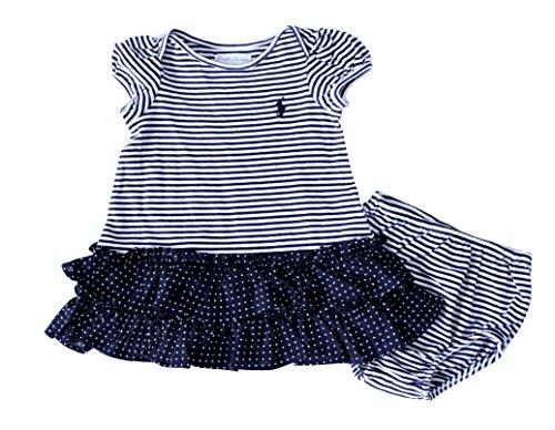 Ralph Lauren Baby Girl Short-sleeved 2 Piece Skirt Dress