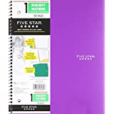 Five Star Heavyweight Quad Ruled Notebook, 3 Hole Punched, 11 x 8-1/2 Inches, 100 Sheets, Assorted Color Covers (06280)
