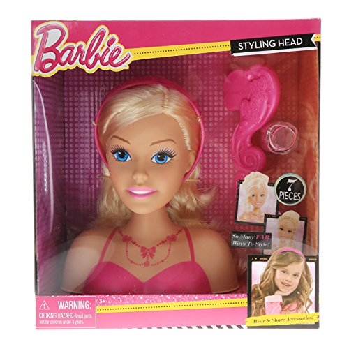 KidPlay Girls Styling Head Doll With Hair Accessories - Barb