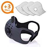 Activated Carbon Dust Mask for Breathing Clean Air, with Extra Filters, Excellent for Cycling, Running, No more Exhaust Gas, Dustproof, Anti Allergy and Pollution, PM2.5 N99 for all Outdoor Activities