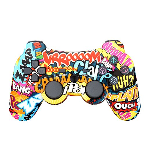 Wireless PS3 Game Controller, Bluetooth Double Shock SIXAXIS Gamepad Joypad...