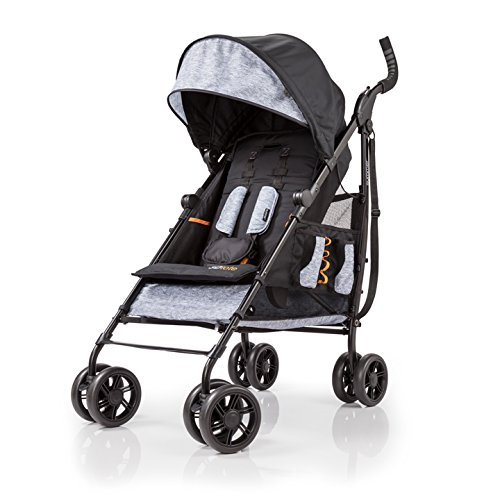 (Summer Infant 3Dtote Convenience Stroller, Orange & Heather Gray)