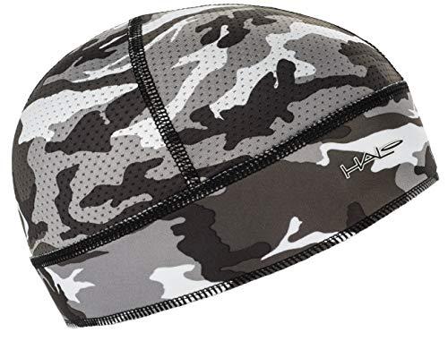 Halo Headband Skull Cap - The Ultimate High Performance Skull Cap, Camo Grey (Helmet Cap Under)