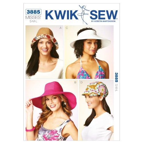 Kwik Sew K3885 Hats Sewing Pattern, Size S-M-L