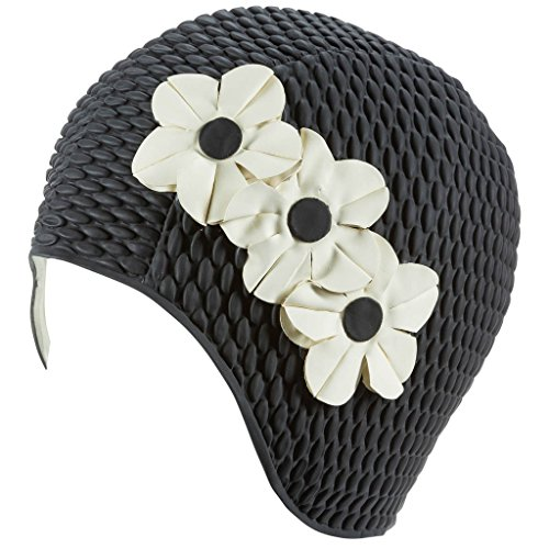 Beemo Latex Swim Cap Women Stylish Swimming Cap Great For Ladies, Perfect To Keep Hair Dry Suitable For Long Hair Many Colors and Sophisticated Styles Available, Also offered With Chin Strap