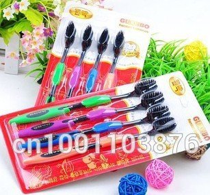 Bamboo Charcoal Toothbrush Odontologia 4pcs/lot Bamboo Toothbrush of Dental Care for Soft Brush