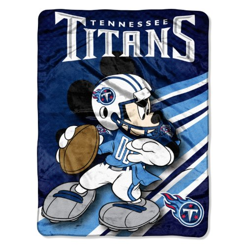 The Northwest Company Officially Licensed NFL Tennessee Titans Mickey Mouse Ultra Plush Micro Super Soft Raschel Throw Blanket