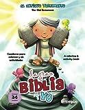 Antiguo Testamento Cuaderno para colorear y de actividades - Bilingüe: Old Testament Coloring and Activity Book - Spanish and English (Big Bible, Little Me)