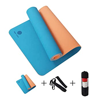 Doble Color Reversible183cmx61cm TPE Colchonetas De Yoga ...