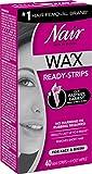 nair wax hair removal - Nair Hair Remover Wax Ready-Strips 40 Count Face/Bikini (2 Pack)