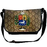 Lov6eoorheeb Unisex Coat Of Arms Of Venezuela Wide Diagonal Shoulder Bag Adjustable Shoulder Tote Bag Single Shoulder Backpack For Work,School,Daily