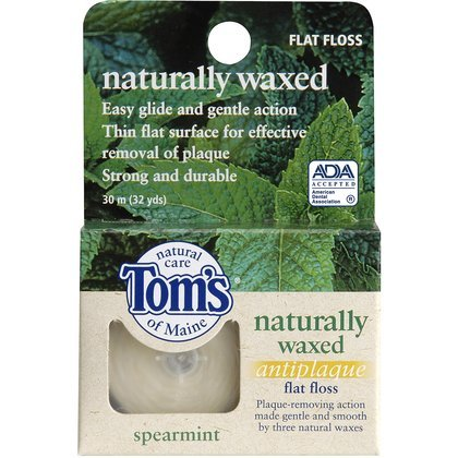 toms-of-maine-spearmint-antiplaque-flat-floss-32-ct-quantity-of-4
