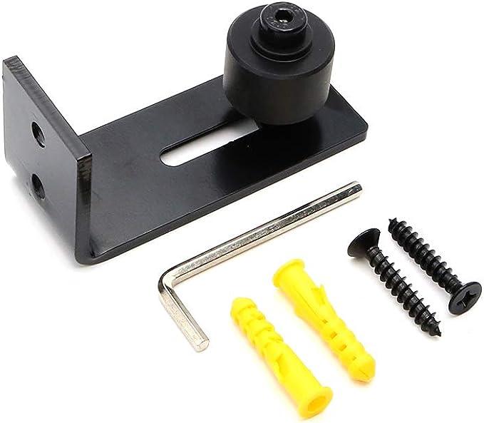 goldenwarm - Guía de suelo para puerta corredera, acero al carbono, guía de rodillos ajustable con tornillos, Negro: Amazon.es: Bricolaje y herramientas