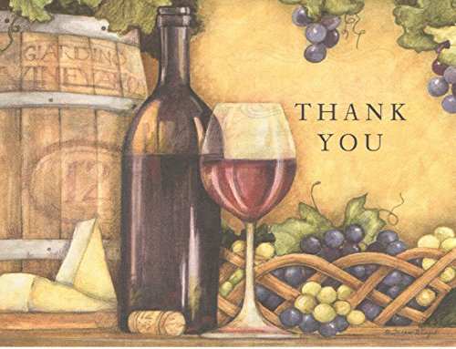 Susan Winget Wine Country Thank You Cards and Envelopes (8 Cards; 4