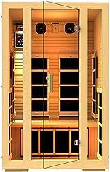 JNH Lifestyles Joyous 2 Person Canadian Hemlock Wood Far Infrared Sauna