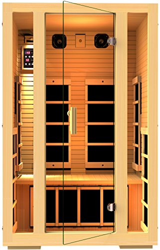 JNH Lifestyles 2 Person Far Infrared Sauna 7 Carbon Fiber Heaters (Far Infrared Sauna Therapy)