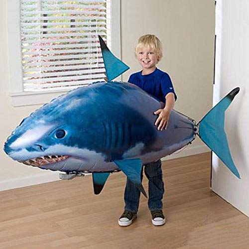 (Remote Control Shark Air Swimming Fish Infrared RC Flying Balloons Nemo Clown Kids Gifts Party Decoration)