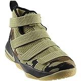 NIKE Kids' Grade School Lebron Soldier Xi Basketball Shoes (6, Camo-M)