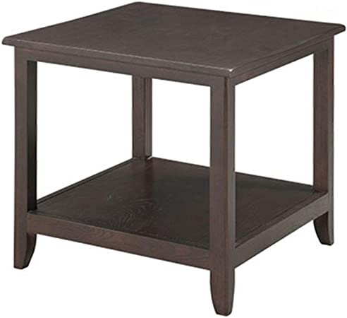 Muebles y Accesorios de jardín Mesa pequeña Mesa Auxiliar for el hogar Dormitorio Mesa de Madera Sala de Estar Mesa Redonda de Almacenamiento Sofá Mesa de té Mesas: Amazon.es: Hogar