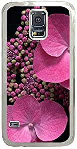 Pink-In-Shadow Cases for Samsung Galaxy S5 I9600 with Transparent Skin