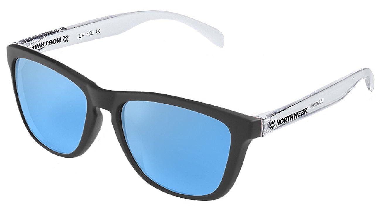 Gafas de sol unisex Northweek Black matte| Bright white ...
