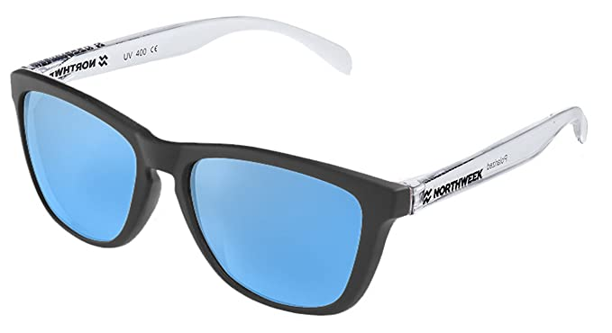 Gafas de sol unisex Northweek Black matte| Bright white ...