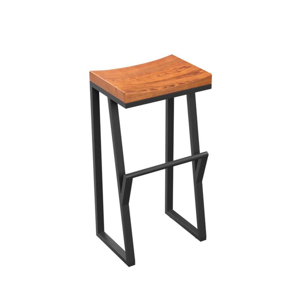 75cm YQY Chair- Bar Stool Modern Fashion Wood + Iron Comfortable and Durable